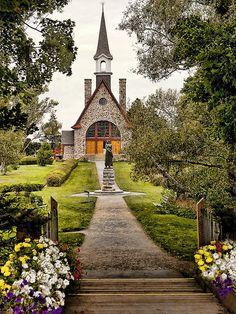 Commemorative Church and Statue of Evangeline, Nova Scotia