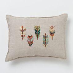 Terrain Embroidered Wingtips Pillow  #shopterrain