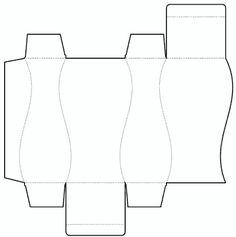 Die cutting image of Curvilinear box templates no.03. Great vase shape if leave off lid flaps