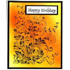 Hero Arts - Leafy Vines, distress ink pads - mustard seed, spiced marmalade and barn door