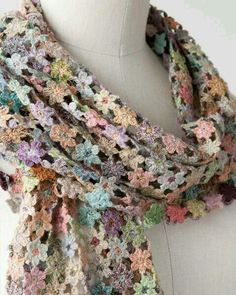 Sophie Digard crochet floral scarf
