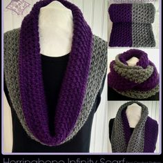 Herringbone Infinity Scarf A Free Crochet Pattern