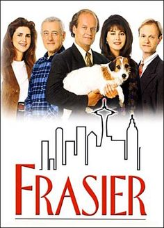 """Frasier"" Kelsey Grammer went from ""Cheers"" to ""Frasier"" without missing a beat.  This was a sophisticated sitcom, done with heart.  ven the dog was funny when he sat there and starred at Frasier."