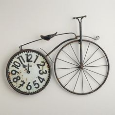 One of my favorite discoveries at WorldMarket.com: Bicycle Wall Clock