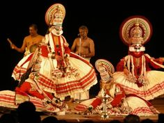 India,Theyyam dancers