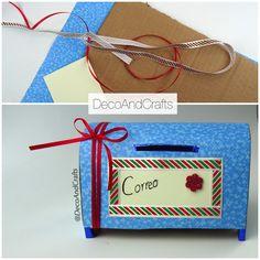 Buzón de Cartas de cartón ALCANCIA - DecoAndCrafts
