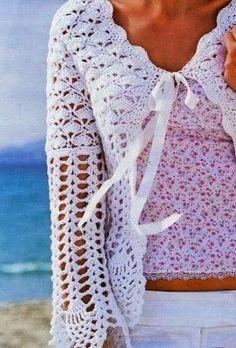 Le maglie per l'estate: Giacchina bianca