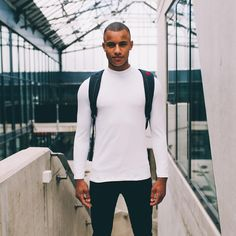 Teamed up with @pinqponq for a fashion shoot! #funktionschnitt #wearthedifference #fashionshoot #highneck #organiccotton #white #longsleeve