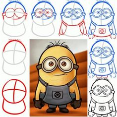 how to draw despicable me - بحث Google