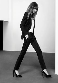 Freja Beha Erichsen by Hedi Slimane for Saint Laurent Pre-Fall 2013