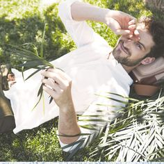 Look cool while you're having fun in the sun with a crisp white shirt and mixed neutrals.
