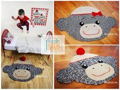 CROCHET PATTERN Spunky Monkey Rug Mat   | Craftsy