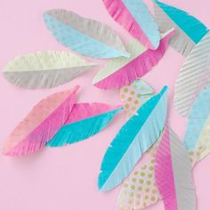 Washi Tape Feathers - Fun to make - washi tape feathers. How would YOU use them?