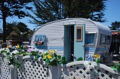 so delightful! vintage travel trailer