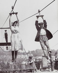 bettyraevintage:  Betty's Pick Of The Day… 1920's Zip Line