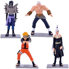 Anime Naruto Action Figure Model Toys 4pcs Car House Decoration Boy Gift 12cm //Price: $25.98 & FREE Shipping //     #actionfigure