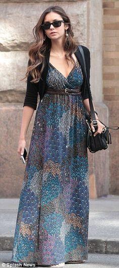 Nina Dobrev maxi dress.  Love her look! fashion-clothes