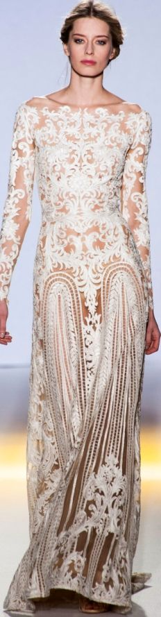 This is just a bit too ''See through' for me!!Zuhair Murad Spring 2013 Couture