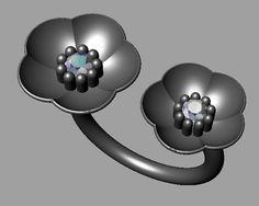 -Cherry Blossom two flower ring