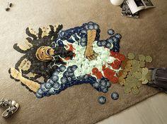 Mosaic Portraits Made From 6500 CDs // #art #music