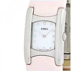 """Pre-owned Ebel Stainless Steel """"Beluga Manchette"""" Womens Watch (1,015 CAD) ❤ liked on Polyvore featuring jewelry, watches, stainless steel watches, stainless steel jewellery, ebel watches, pre owned watches and stainless steel wrist watch"""