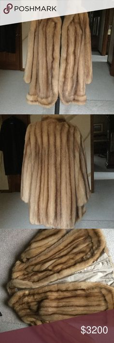 Natural Golden Russian Sable Fur Jacket Stroller Excellent! Condition ... no flaws at all Russian Sable Fur.  A truly magnificent fur jacket.. fits size medium through large custom furrier made Jackets & Coats