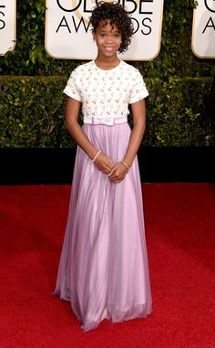 "omgthatdress: ""QUVENZHANÉ WALLIS OMFG Y'ALL. She is so cute and fierce and talented I just cannot HANDLE this little girl! I LOVE her hair, and that lilac is so pretty with her skin tone! """