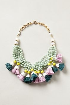 Tasseled Strands Necklace, from Anthopologie -- DIY Jewelry-Making Aspirations