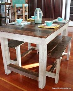Pallet Farmhouse Table This is how I'd like to redo our table and chairs. Plsss :)