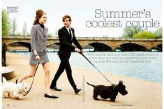 summer's coolest couple: estelle yves and harry treadaway by chris craymer for uk glamour june 2013