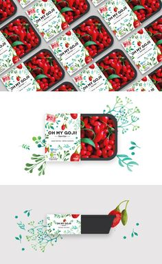 Our latest packaging for a company who produces and sells goji berry across Europe. design: Media Designers