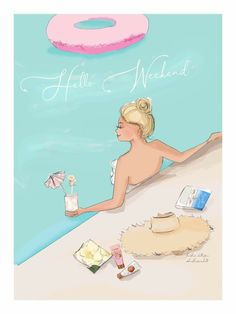 Bon Weekend, Hello Weekend, Discipline Quotes, Weekend Quotes, Saturday Quotes, Cute Cartoon Girl, Summer Aesthetic, Crazy Girls, Pretty Art
