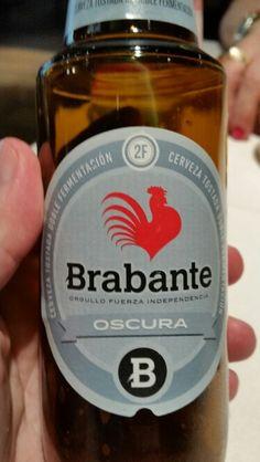 Y la segunda cervecita también oscura en menú degustacion del Restaurante Sandó