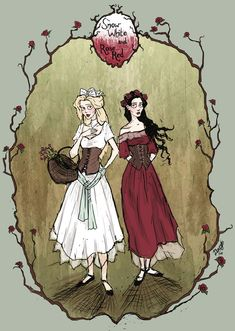 Snow White and Rose Red by LaraBerge