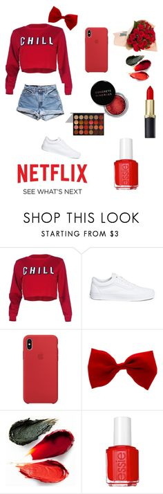 """""""Untitled #51"""" by amandaowen131 ❤ liked on Polyvore featuring Levi's, Vans, Rituel de Fille, Concrete Minerals, Essie and Identity"""