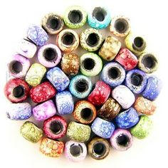 BIS-MIX-248 6x8mm Crow Multi Marble Beads Mix (1lb)  $20.89