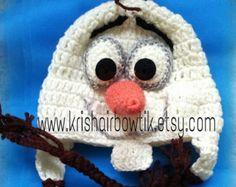 olaf crochet hat-Frozen hat-disney hat-baby crochet hat