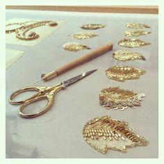 @Regrann_App from @parida_serendipity - Golden leaves for decoration. #movingforward #art #doWhatIlove #paris #london#hautecoutureemboidery #parida #luneville #crochetdeluneville - #regrann #fitryfashion #fashionblogger #fashion #fashionmuslim #clothes #clothing #hijab #smile