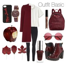 """Outfit Basic"" by sophiebenson16 on Polyvore featuring Lacoste, Dr. Martens, STELLA McCARTNEY, NYX, Marc Jacobs, Skagen, By Terry and Ganz"