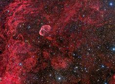 NGC6888 and Soap Bubble Nebula in Cygnus