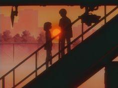 Orange Aesthetic, Aesthetic Colors, Aesthetic Collage, Aesthetic Pictures, Aesthetic Anime, Old Anime, Anime Art, Images Esthétiques, Japon Illustration