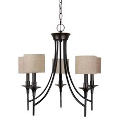 Sea Gull Lighting Stirling 31942-710 5-Light Chandelier - 22.5 diam. in. - Burnt Sienna | from hayneedle.com