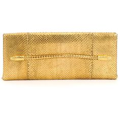 Tom Ford Metallic Python Serpent Bar Clutch Bag (24,740 HKD) found on Polyvore featuring bags, handbags, clutches, gold, metallic purse, snakeskin purse, python purse, snake skin purse and brown handbags