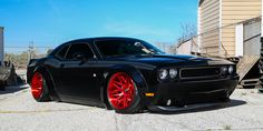 Liberty Walk Dodge Challenger R/T on Forgiato Wheels // The newest model to get a widebody from Liberty Walk is the Dodge Challenger, putting the American au. Modern Muscle Cars, Custom Muscle Cars, American Muscle Cars, Dodge Challenger, Lamborghini Huracan, Ferrari, Fast Sports Cars, Porsche, Audi