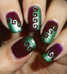 smART Nails Spiral Stencil P019 #wendysdelights #nailart #fallmani #cutenails - bellashoot.com