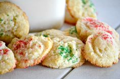 Cream Cheese Cookies. Oh man, these are so delicious and super easy to make. Next time I will keep them in the round shape instead of flattening them. They are not pretty but so so so delicious. Will be making these again.