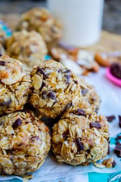No Bake Peanut Butter Oatmeal Energy Bites from The Food Charlatan