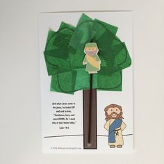 Jesus Changed Zacchaeus' Heart Craft and Lesson Plan