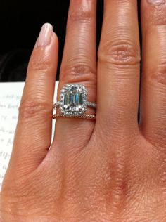 Harry Winston Custom Engagement ring with VCA Perlee band