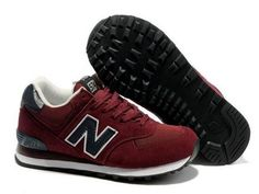 New Balance 574 classic purplish Red Black men shoes Nb Shoes, Shoe Boots,  New 563b8c59255f